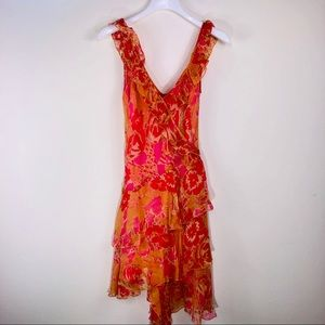 LAUNDRY by Shelli Segal Floral Ruffle Dress Size 4